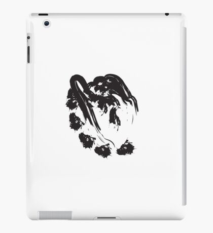 J // Black on White iPad Case/Skin