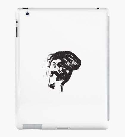 M // Black on White iPad Case/Skin