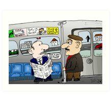 The Limo Train Cartoon Art Print