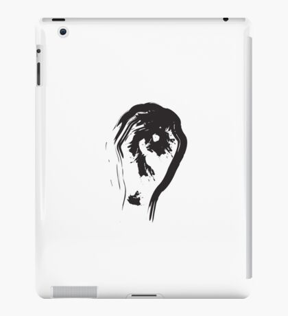 O // Black on White iPad Case/Skin