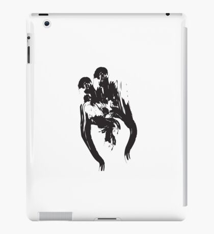 W // Black on White iPad Case/Skin