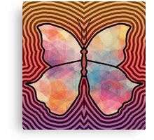 Geometric Butterfly Canvas Print