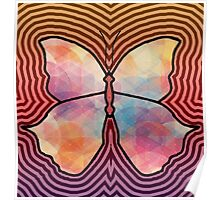 Geometric Butterfly Poster