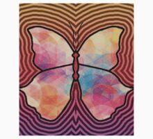 Geometric Butterfly Kids Tee
