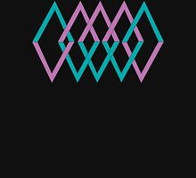 (shapes) Diamonds Lavender & Aqua Hoodie
