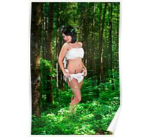 innocent female angel in a forest  Poster