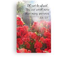 Luke 12:7 Canvas Print