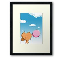 The monkey chews a Chewing-Gum Framed Print