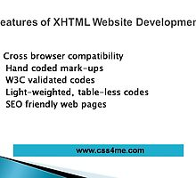 Advantages of XHTML website development  by nelson0