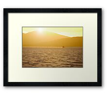 Bike on the salt Framed Print
