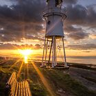 Black Nore Lighthouse Sunset by Gary Clark