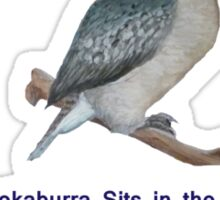 Kookaburra Sits In The Old Gum Tree Sticker