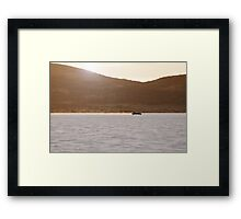 Ford Hot Rod on the salt at full throttle Framed Print