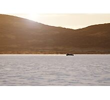Ford Hot Rod on the salt at full throttle Photographic Print