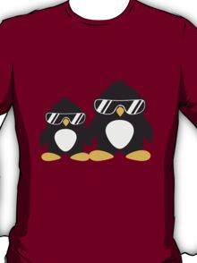 Cool Penguin Dad And Boy T-Shirt
