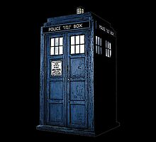 Tardis from Dr Who (Black Case) by Marjuned