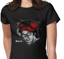 Word. Womens Fitted T-Shirt