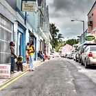 Passing by Market Street in Downtown Nassau, The Bahamas by 242Digital