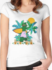 SURFING GUMBY Women's Fitted Scoop T-Shirt