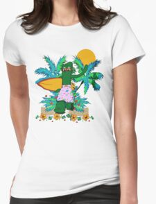 SURFING GUMBY Womens Fitted T-Shirt