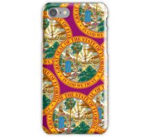 Smartphone Case - State Flag of Florida  - Great Seal Magenta iPhone Case/Skin