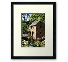 Old Mill water wheel Framed Print