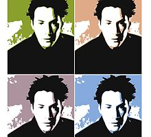 Keanu Reeves in the Matrix, 4 Colors by Kathryn8