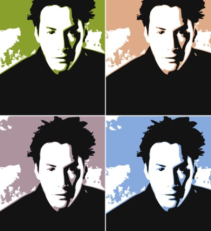 Keanu Reeves in the Matrix, 4 Colors Sticker