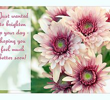 Feel Better Soon! Pretty Daisy Card by Micklyn2