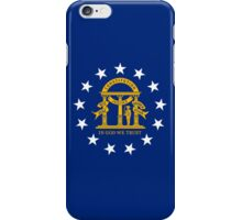 Smartphone Case - State Flag of Georgia  - Seal Blue iPhone Case/Skin
