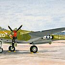Lockheed lightning P-38 J Thoughts of Midnite by Dave Black