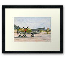 Lockheed lightning P-38 J Thoughts of Midnite Framed Print