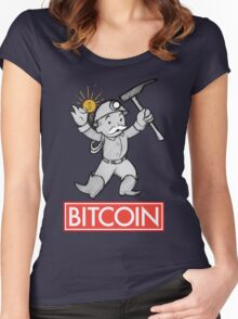 Bitcoin Women's Fitted Scoop T-Shirt