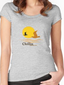 chillin keep beer cold vacation Women's Fitted Scoop T-Shirt