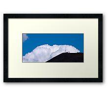a walk in the clouds Framed Print