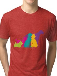Dog Silhouettes Colour Tri-blend T-Shirt