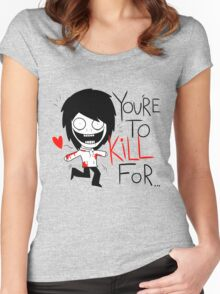 Jeff The Killer Loves You Women's Fitted Scoop T-Shirt