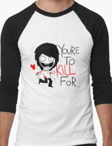 Jeff The Killer Loves You Men's Baseball ¾ T-Shirt