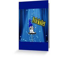 Magic trickster monster Greeting Card