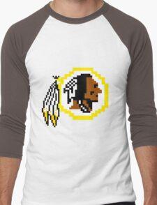 8Bit Redskins Tee - Esquire 3nigma Men's Baseball ¾ T-Shirt