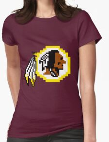8Bit Redskins Tee - Esquire 3nigma Womens Fitted T-Shirt