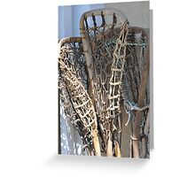 Lacrosse Sticks Greeting Card