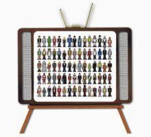 MS Paint Pixelated TV Characters by inesbot
