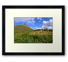 Small house in the mountains Framed Print