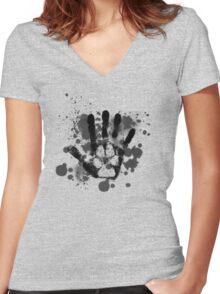 Wolf On the Inside Women's Fitted V-Neck T-Shirt