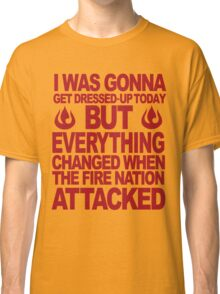 Blame the Fire Nation- red  Classic T-Shirt