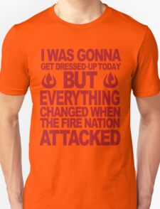 Blame the Fire Nation- red  T-Shirt