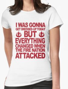 Blame the Fire Nation- red  Womens Fitted T-Shirt