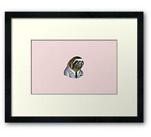 Office Sloth Framed Print