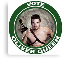 Oliver Queen for Mayor Canvas Print